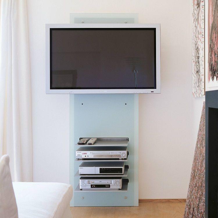 Porta TV da muro in cristallo William di ArredaTV