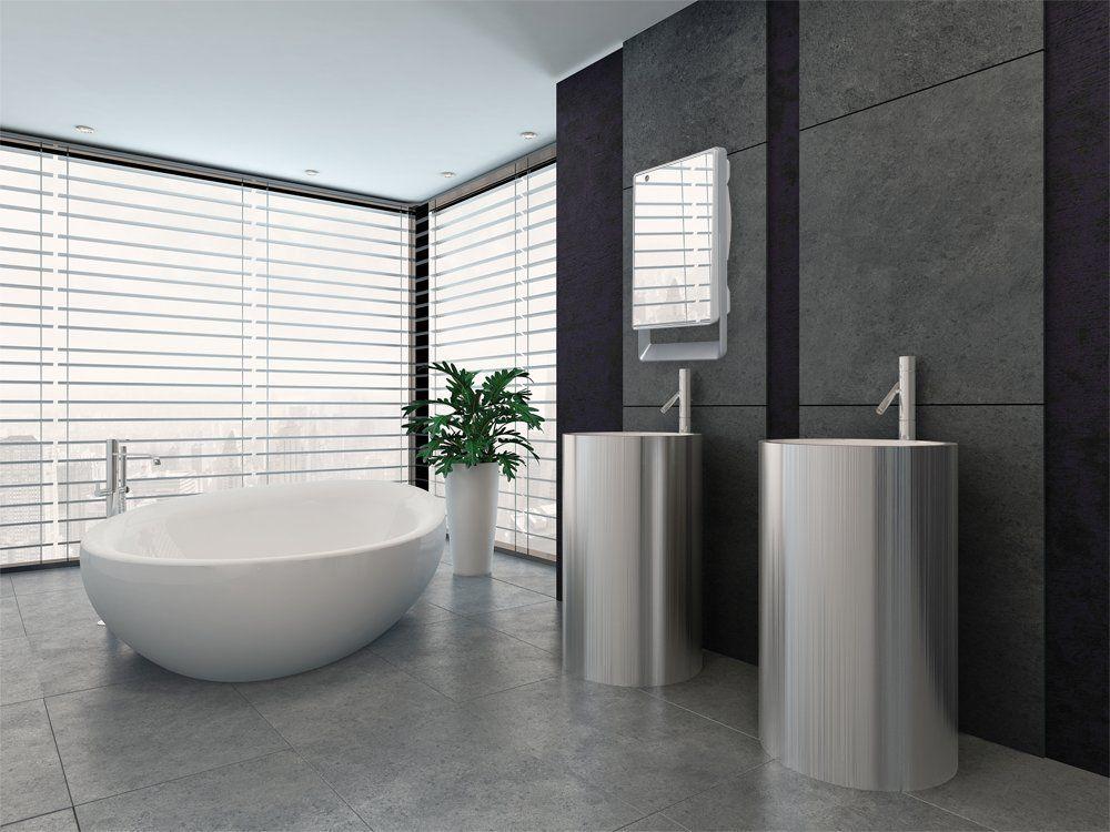Riscaldare e arredare il bagno con le stufe elettriche - House Mag
