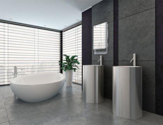 Arredare la stanza da bagno in stile marinaro - Riscaldare il bagno ...