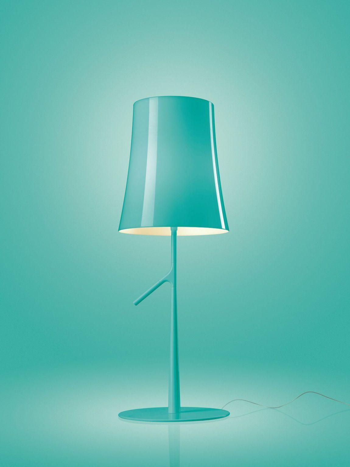 Foscarini_Birdie lampada tavolo_turchese