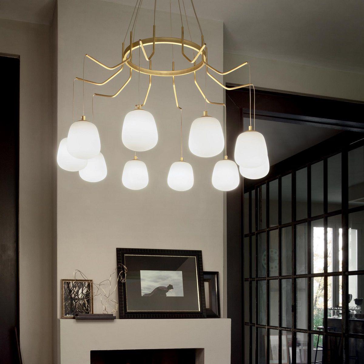 Illuminare il soggiorno: come scegliere il lampadario ...