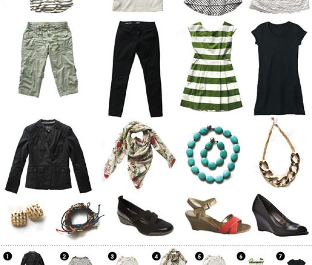 Light Packing Travel Outfits For Spring And Summer Travel Nine Items Of Clothing Mix And