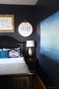Navy blue bedroom and home office | House Mix