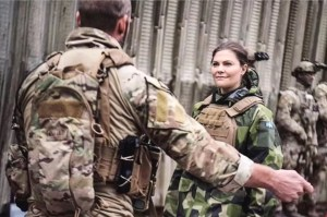 Sweden's Crown Princess Victoria wearing Tyr Tactical gear.