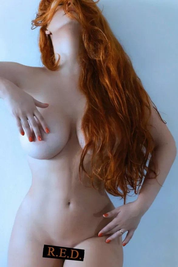 a busty redhead for RED Friday