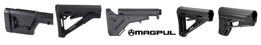 Magpul Stock options for different weapons and end uses.