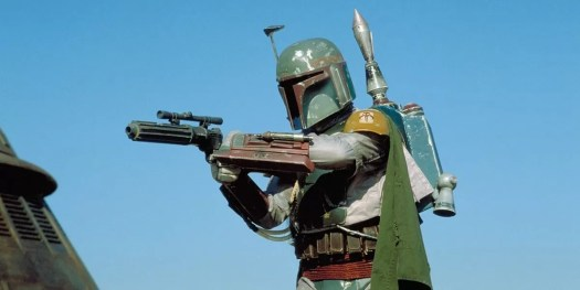 The most famous of all Mandalorian helmets: the Boba Fett helmet