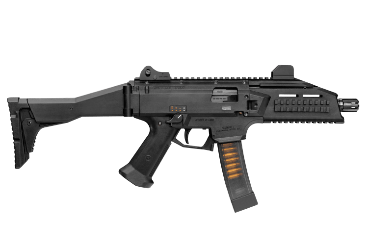 The CZ scorpion has a straight blowback