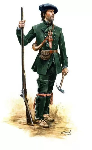 One of Rogers Rangers in the French and Indian War