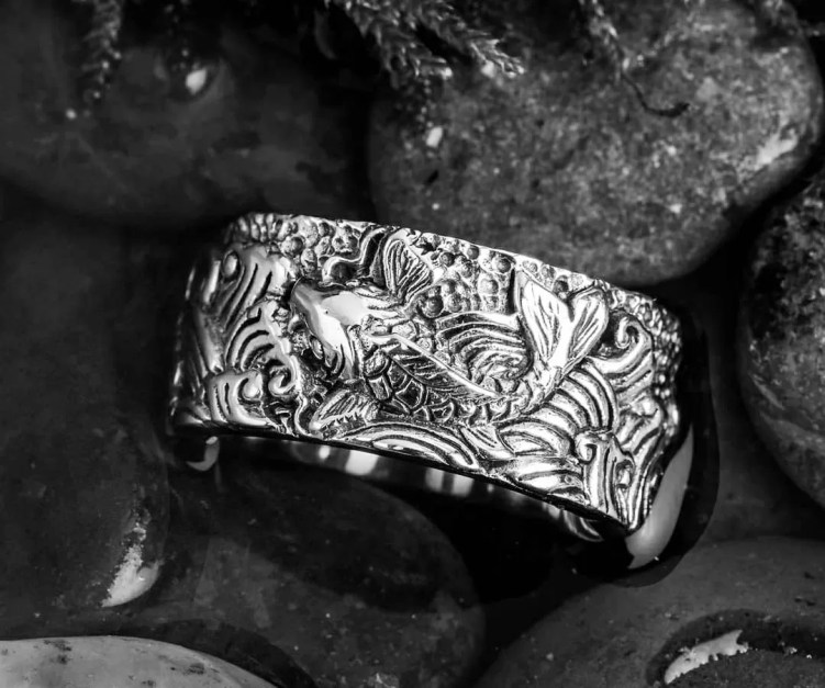 For spiritual symbology (武士道): the koi fish ring