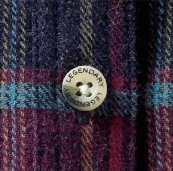 Legendary Whitetail flannel shirt button