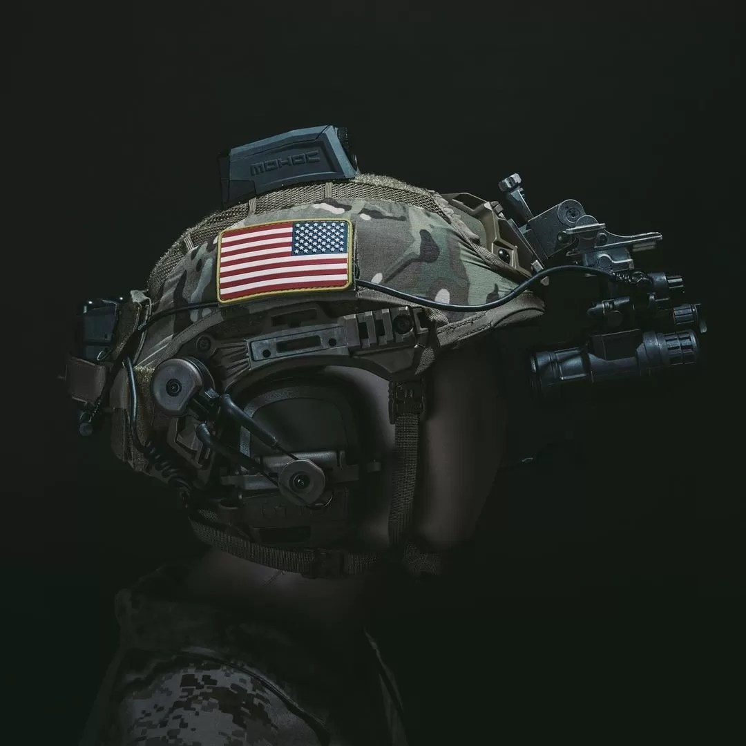 The RDX tactical helmet cover from RE Factor.