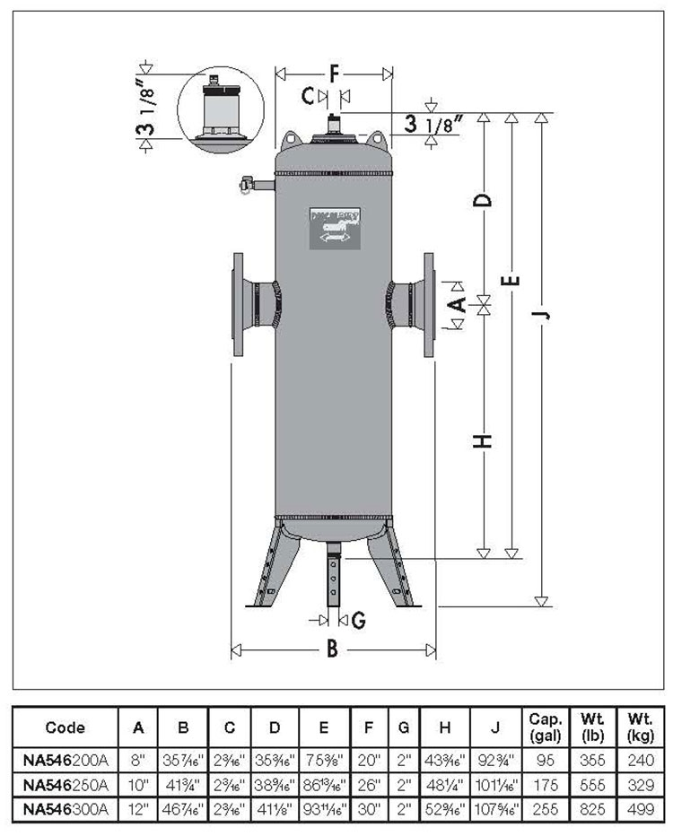 Sepertor Heating System Hydronic Components Air