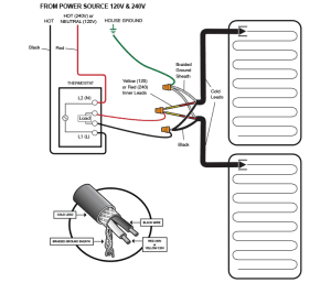 WarmlyYours TH114AFGA Heat Smartstat Programmable Thermostat