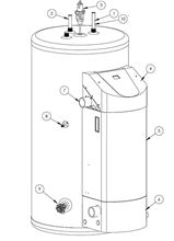 Westinghouse Gas Tank Water Heater WGR050NG076 50 Gallon Tank