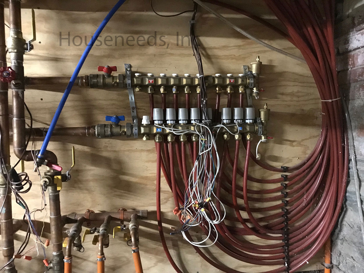 hight resolution of example of how to pipe a hydronic radiators or fan convectors with pex manifold and actuators