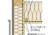 GWS工法の外壁と天井の取り合い部