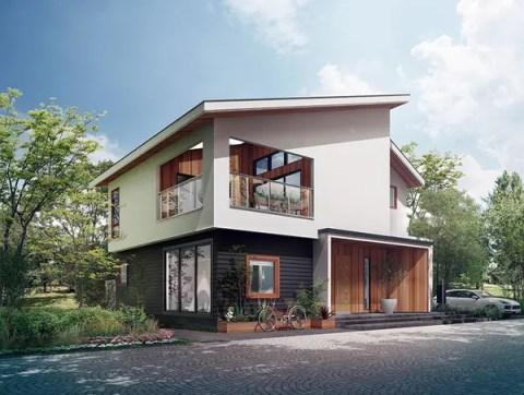 片流れ屋根で大容量PVも搭載可能