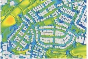 街区全体の風シミュレーション