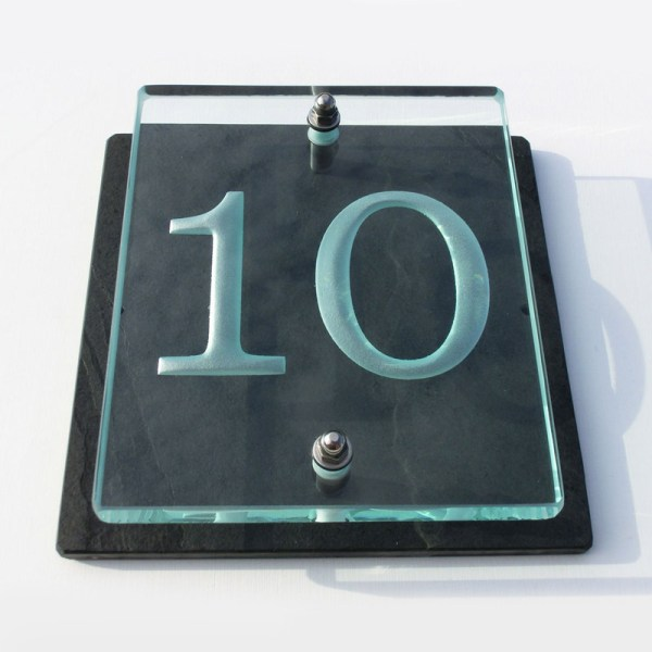 Buy a Small Glass House Number Sign Tim Carter