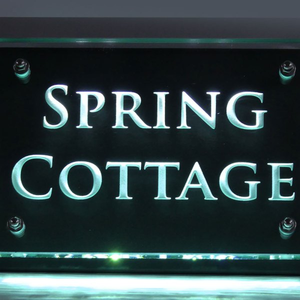 Spring Cottage - Illuminated house name sign