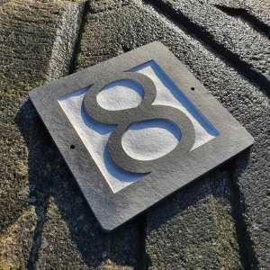 Number-8-slate-plaque-Clarendon-Lt-Bt-font