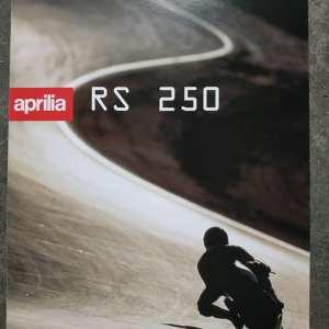 APRILIA RS 250 DEPLIANT ORIGINALE