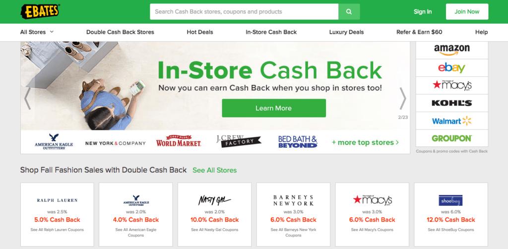 Ebates Walmart Cash Back
