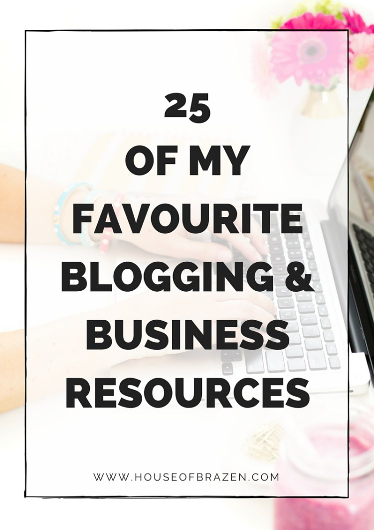 25 blogging business resources