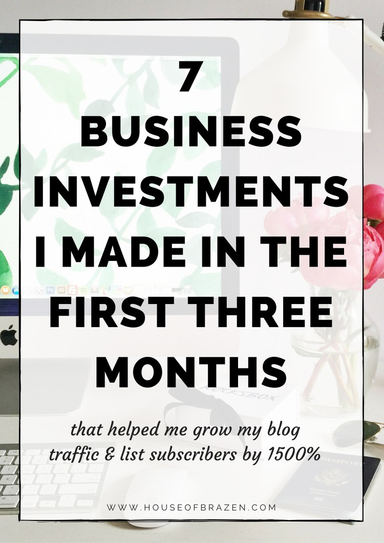 7 Blogging & Business Investments I Made in the First Three Months