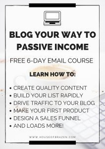 Blog Your Way to Passive Income Course