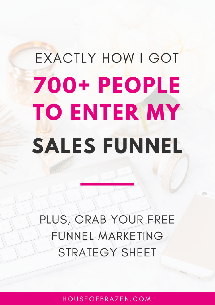 How I Got 700+ People To Enter My Sales Funnel