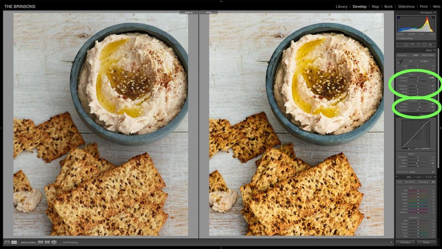 Clarity tool. A little goes a long way with food images.