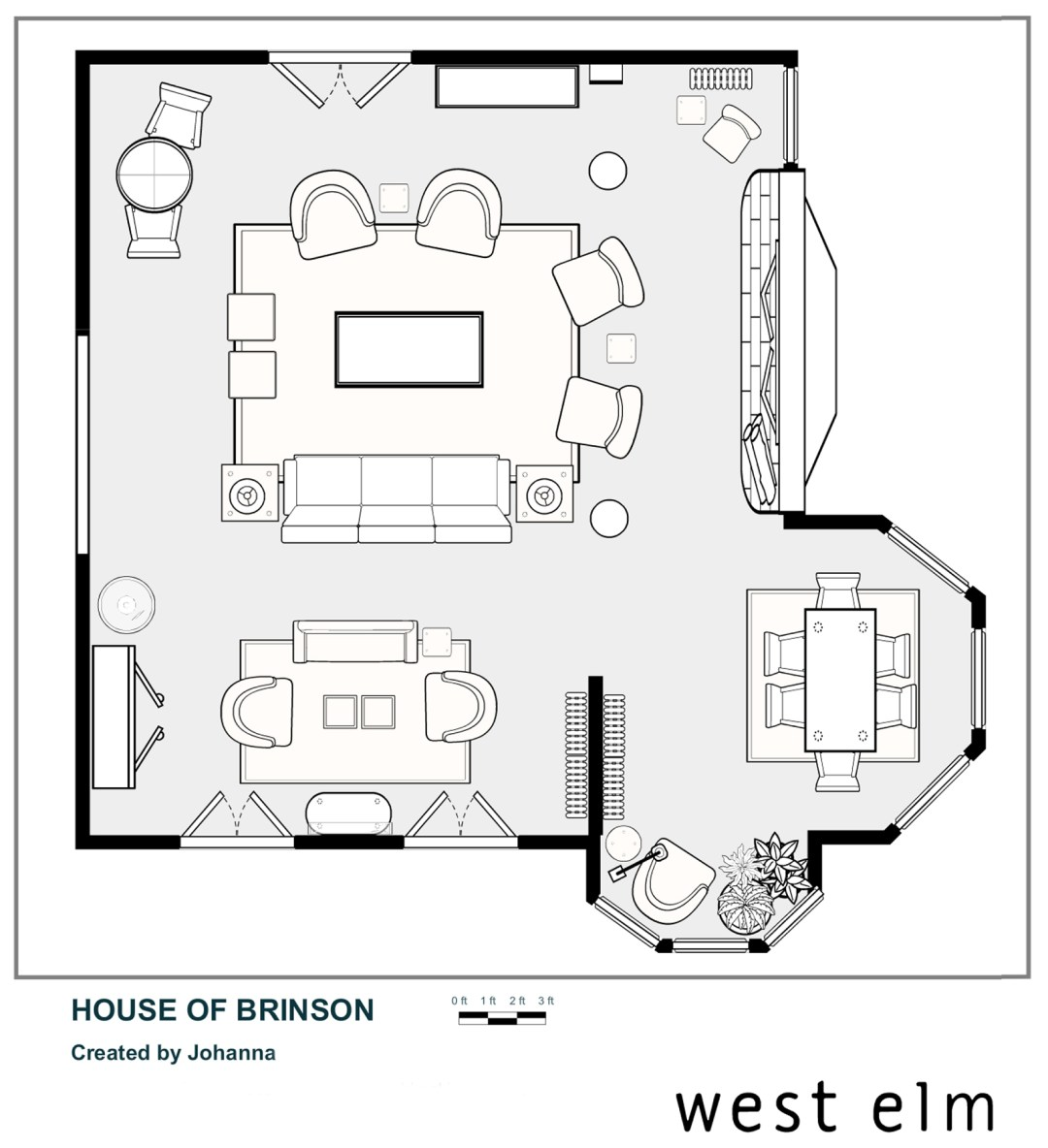 House of Brinson Living Room Layout