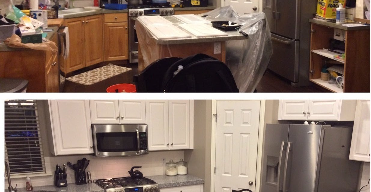 DIY-PAINTING KITCHEN CABINETS WHITE!   %