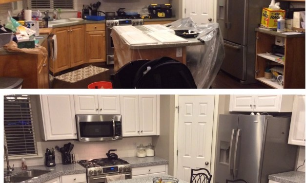 DIY-PAINTING KITCHEN CABINETS WHITE!