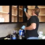 How to clean gel stain on kitchen cabinets