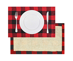 Double-sided-red-black-placemats-with-jute
