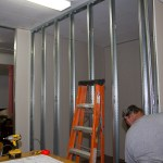 Some of the drywall being hung, its really coming together!