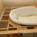 Bathtub box reinforcement.