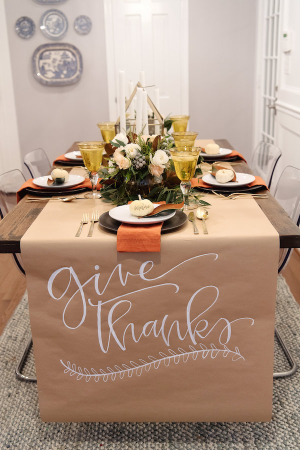 thanksgiving table setting house