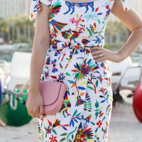 FOLKLORIC PRINT DRESS