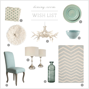 dining room wish list