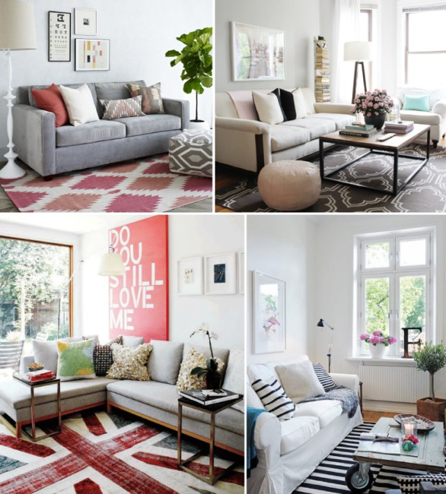 decorating your rental with statement rugs