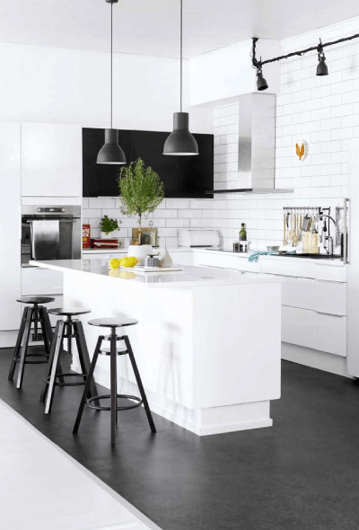 decorating with black & white