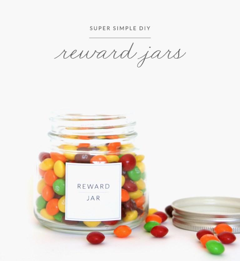 DIY reward jar labels free printable
