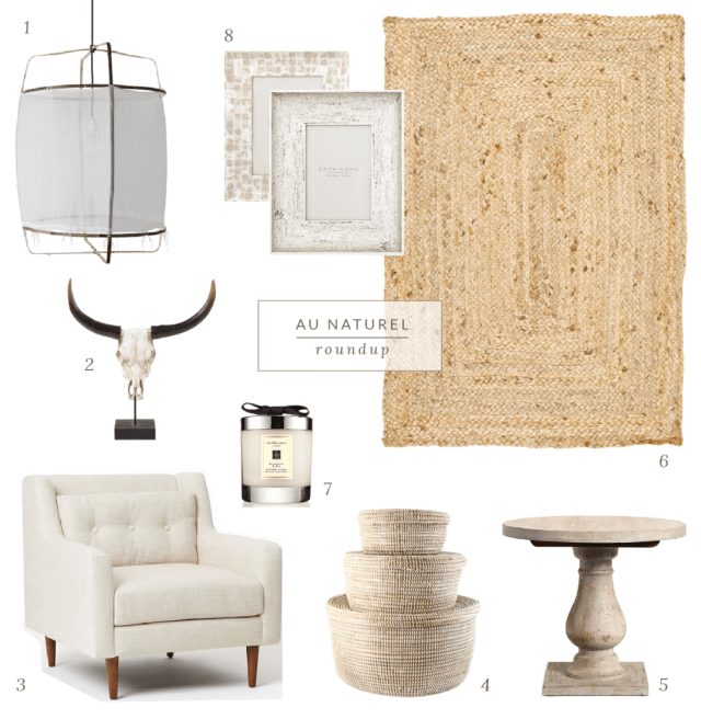 This month's roundup is a continuation of my recent natural decor inspiration piece.