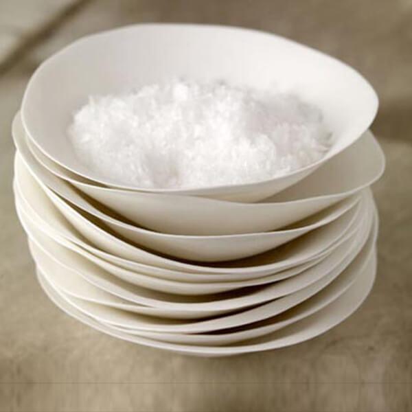 Organic shaped tableware by Carolyn Swift