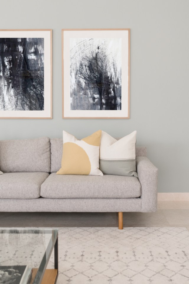 Sofa and Artwork Shot