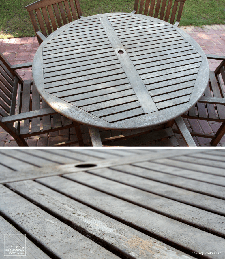 DIY Outdoor furniture makeover - House of Hawkes